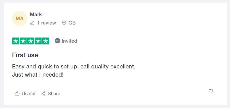 Conference call 5 star trustpilot review