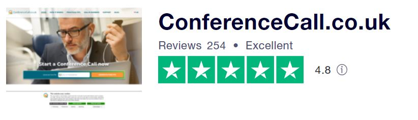 Conference call is rated 4.8 on Trustpilot